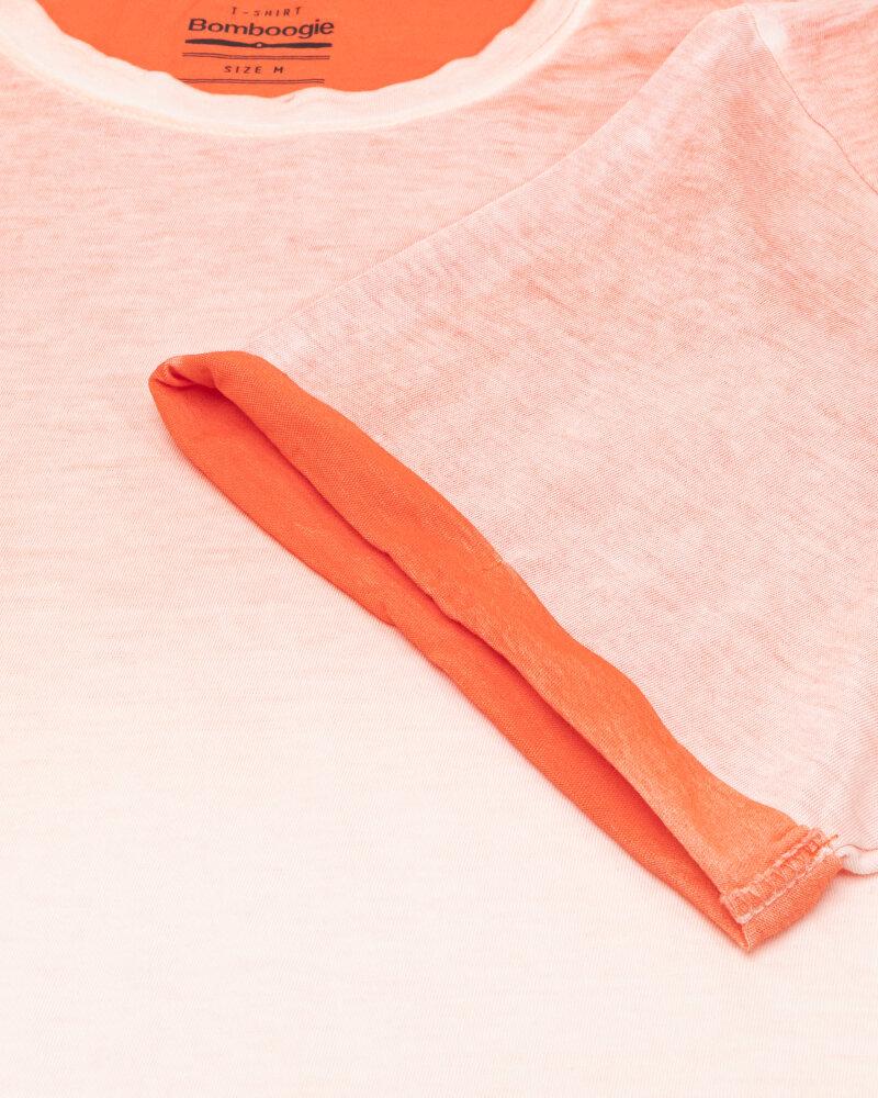 T-Shirt Bomboogie TM6983_JGRA_40 pomarańczowy - fot:3