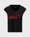 T-Shirt Bomboogie TW6963_JSEY_90 ciemnoszary