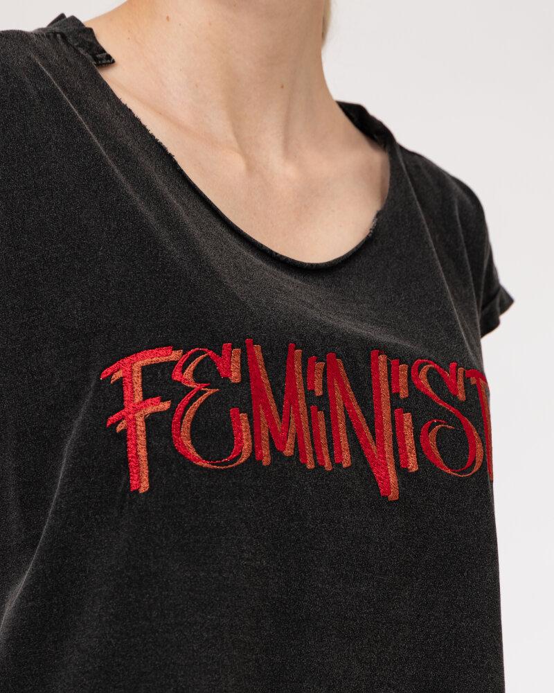 T-Shirt Bomboogie TW6963_JSEY_90 ciemnoszary - fot:3