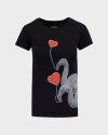 T-Shirt Bomboogie TW6990_JSNS_90 czarny