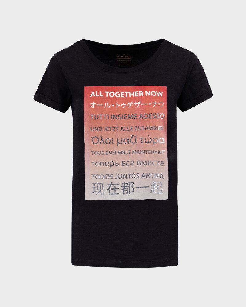 T-Shirt Bomboogie TW6992_JSEL_90 czarny - fot:1