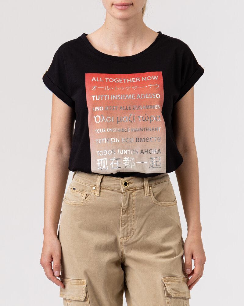 T-Shirt Bomboogie TW6992_JSEL_90 czarny - fot:2