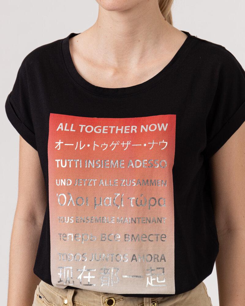 T-Shirt Bomboogie TW6992_JSEL_90 czarny - fot:3