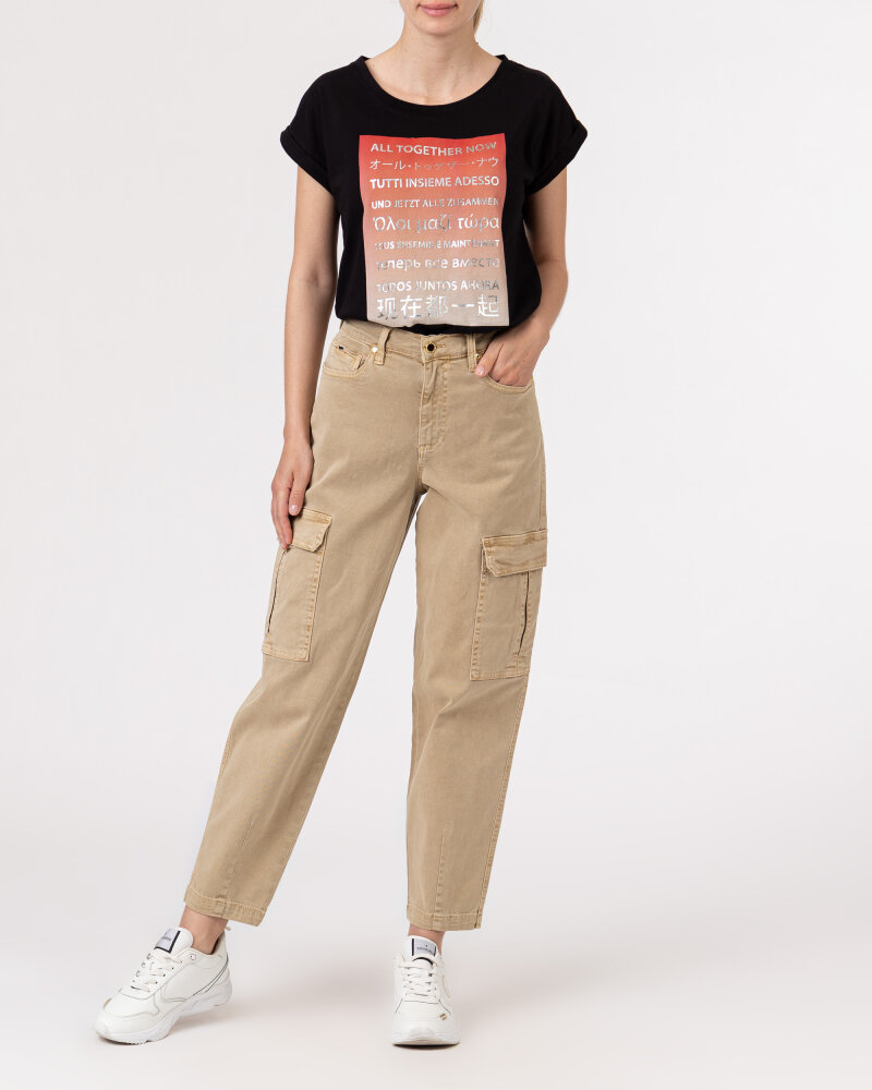 T-Shirt Bomboogie TW6992_JSEL_90 czarny - fot:5