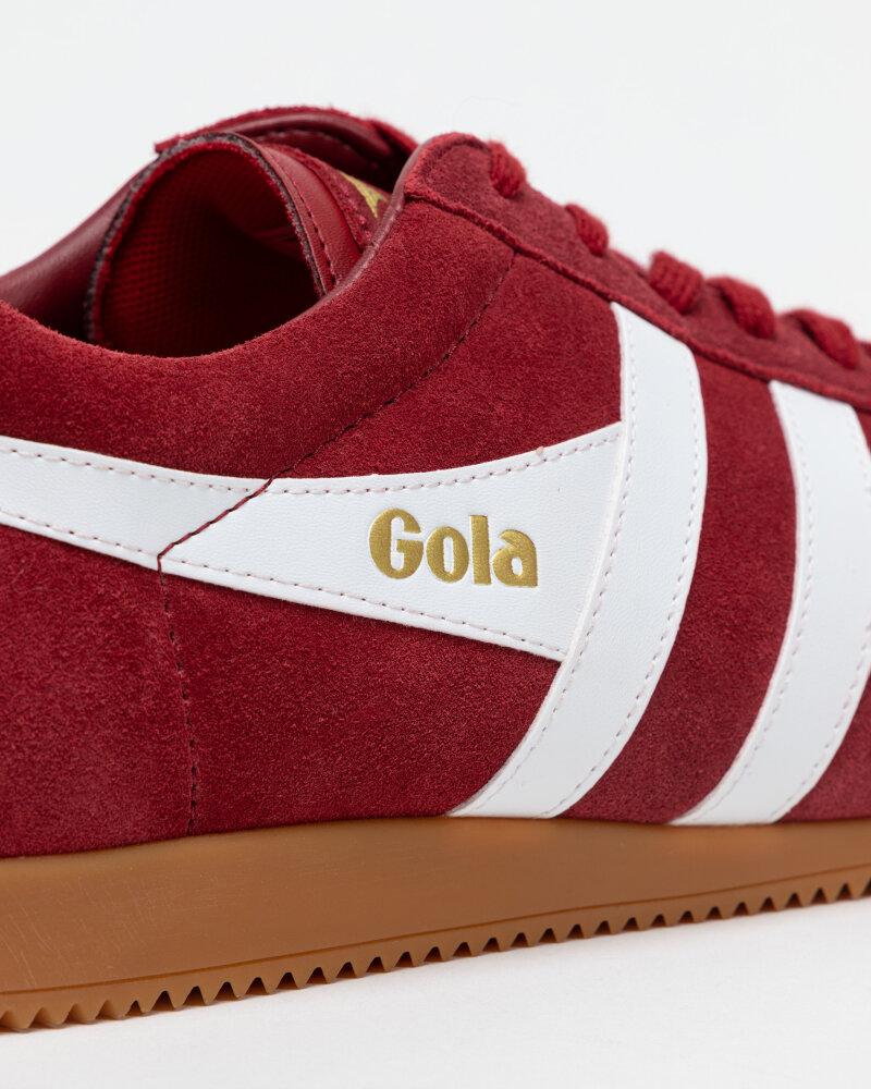 Buty Gola CMA192LF_GOLA HARRIER SUEDE_DEEP RED/WHITE czerwony - fot:4