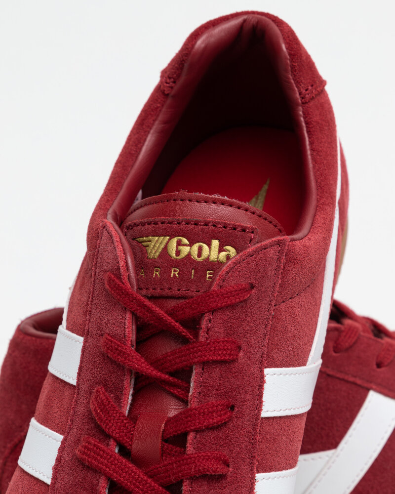 Buty Gola CMA192LF_GOLA HARRIER SUEDE_DEEP RED/WHITE czerwony - fot:12