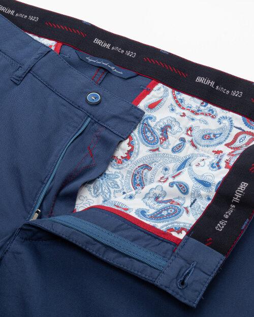 Spodnie Brühl London_0643185010100_660 niebieski