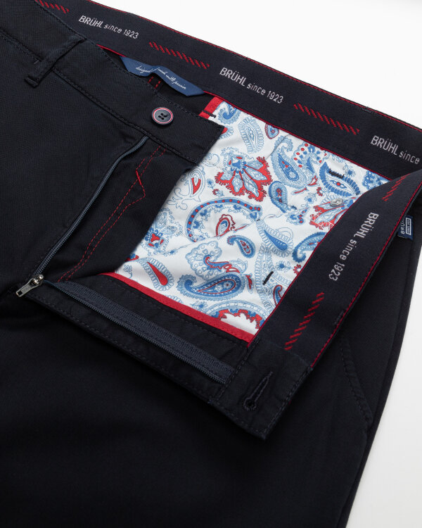 Spodnie Brühl London_0643185010100_690 granatowy