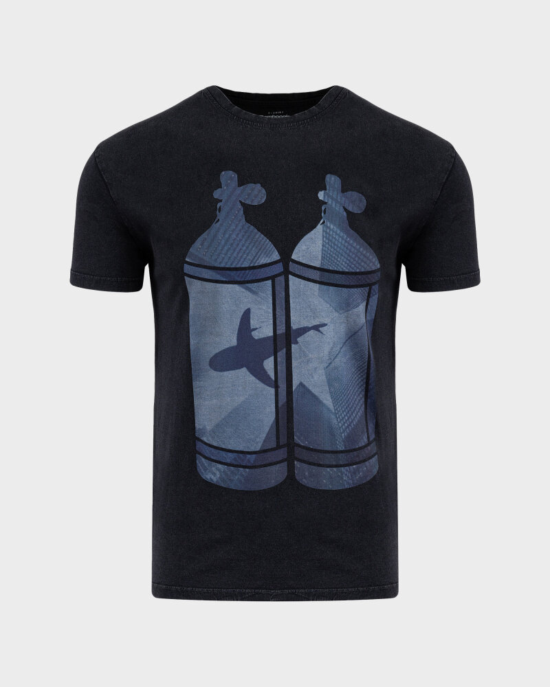 T-Shirt Bomboogie TM6977_JSEY_90 czarny - fot:1