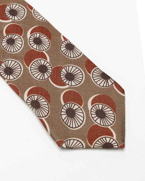 Krawat Stenstroms 913207_001 brązowy
