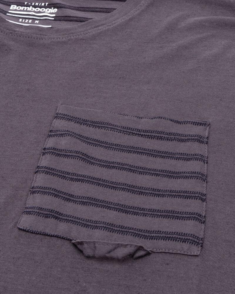 T-Shirt Bomboogie TM6968_JETK_95 fioletowy - fot:3