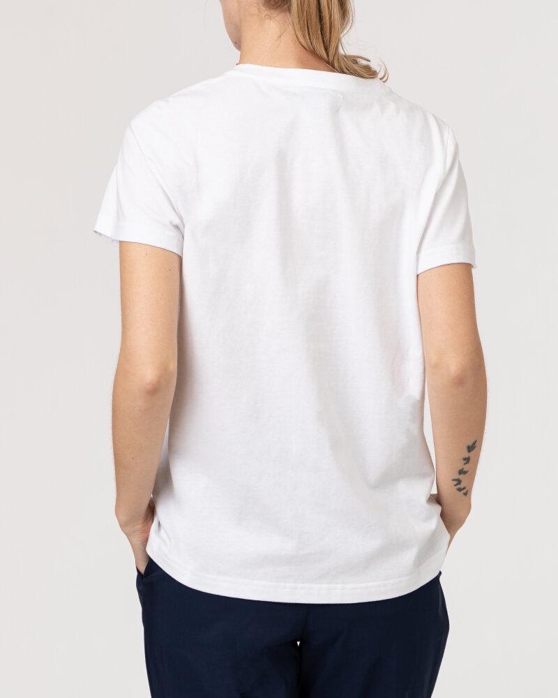 T-Shirt Lollys Laundry 21189_1044_NEON PINK biały - fot:4