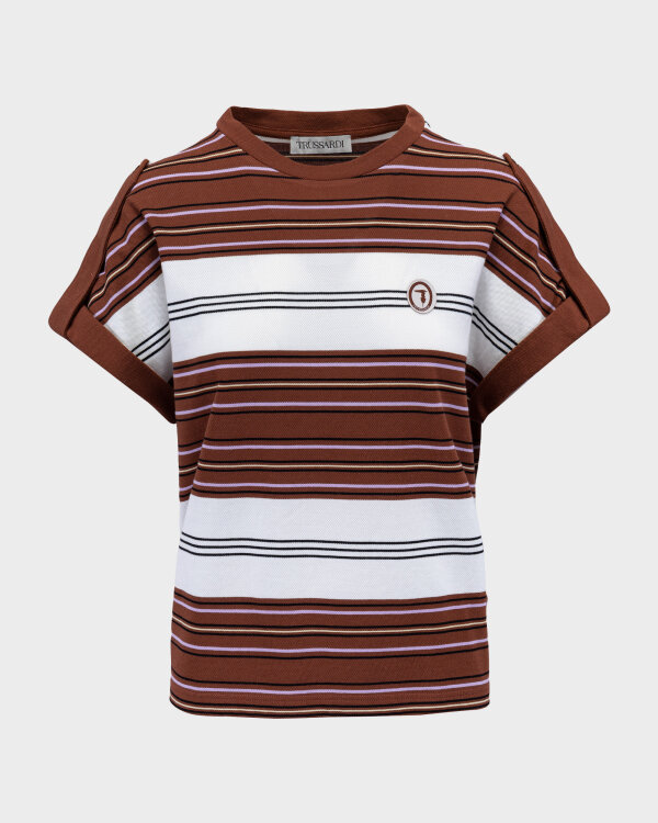 T-Shirt Trussardi  56T00352_1T005075_B175 brązowy