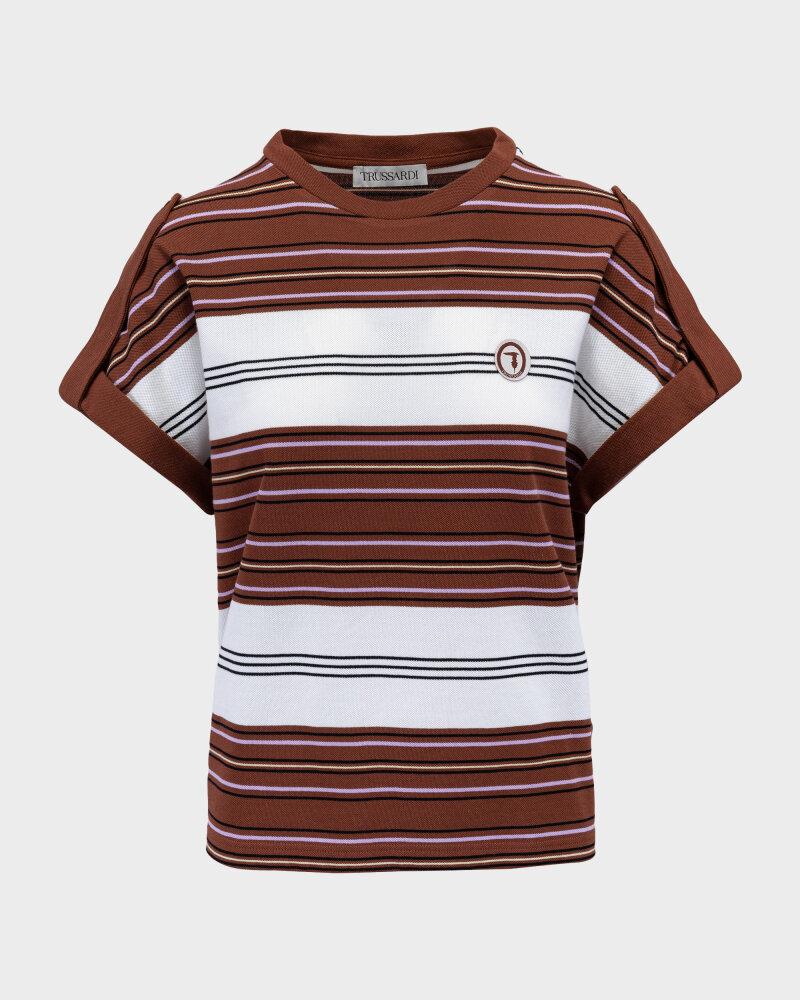 T-Shirt Trussardi  56T00352_1T005075_B175 brązowy - fot:1