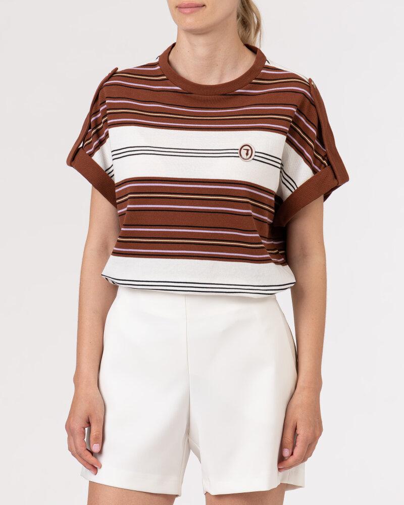 T-Shirt Trussardi  56T00352_1T005075_B175 brązowy - fot:2