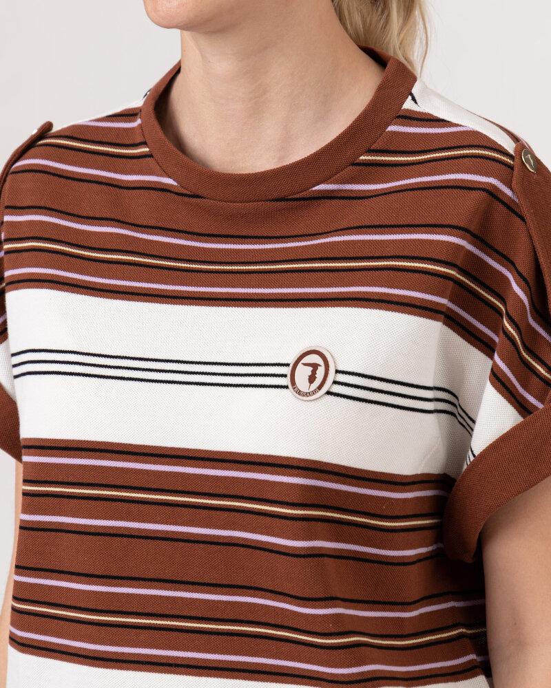 T-Shirt Trussardi  56T00352_1T005075_B175 brązowy - fot:3