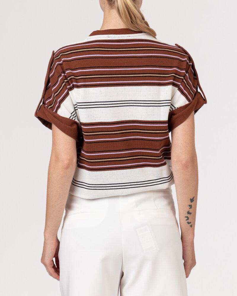 T-Shirt Trussardi  56T00352_1T005075_B175 brązowy - fot:4