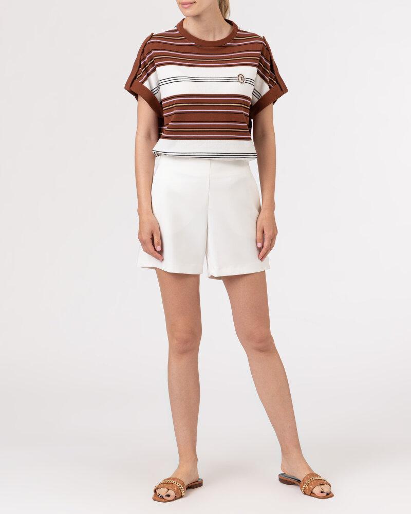 T-Shirt Trussardi  56T00352_1T005075_B175 brązowy - fot:5