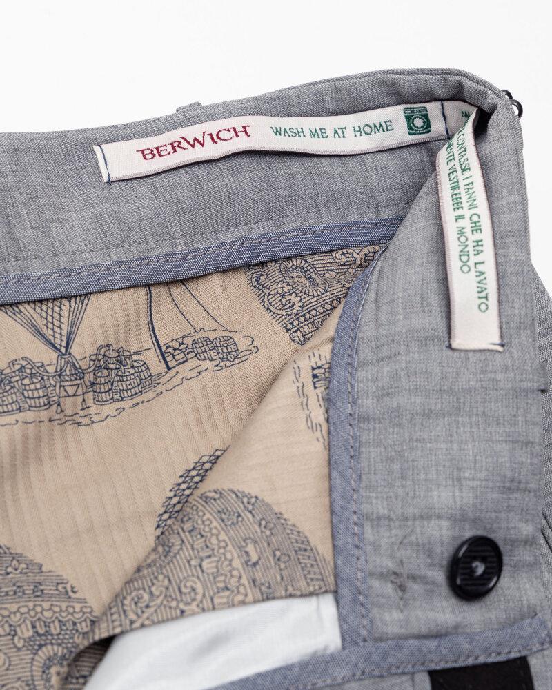 Spodnie Berwich PU07SCMILANOVB101_GREY szary - fot:5