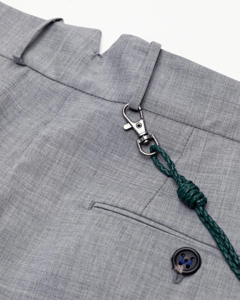 Spodnie Berwich PU07SCMILANOVB101_GREY szary - fot:7
