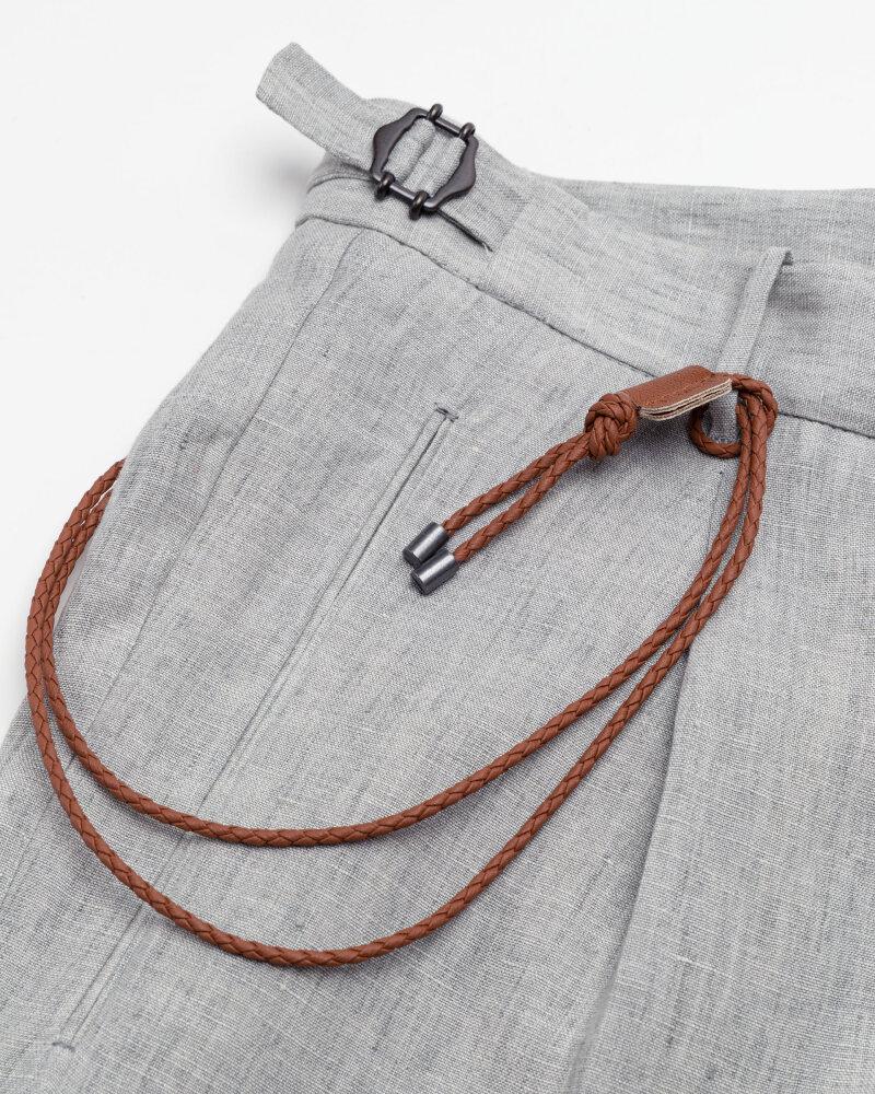 Spodnie Berwich PU07RETROLONGLM104_LIGHT GREY jasnoszary - fot:4