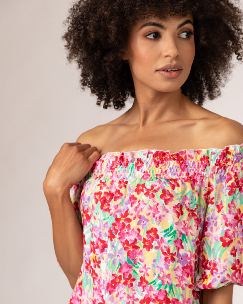 Sukienka Fraternity WL21_FLORENCE_COLORFUL różowy - fot:3