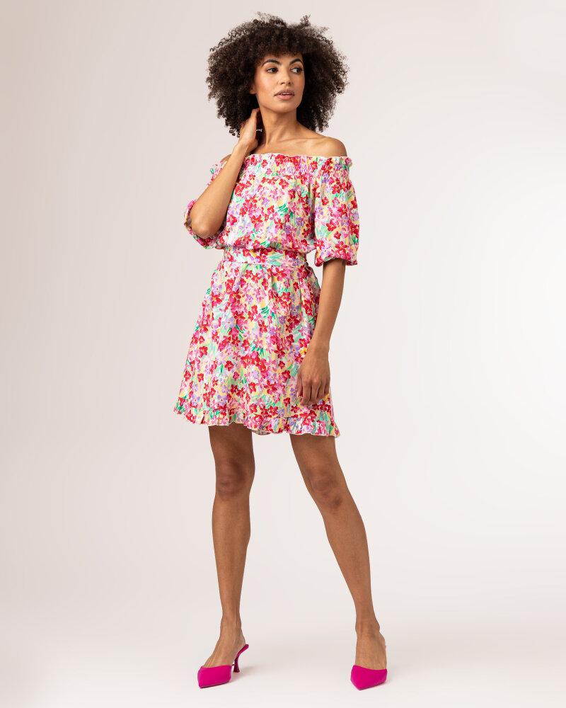 Sukienka Fraternity WL21_FLORENCE_COLORFUL różowy - fot:2