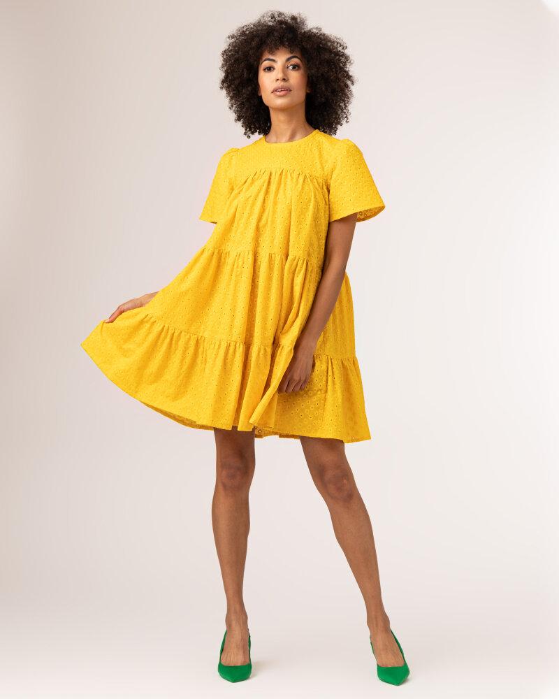 Sukienka Fraternity WL21_JULIETTE_YELLOW żółty - fot:2