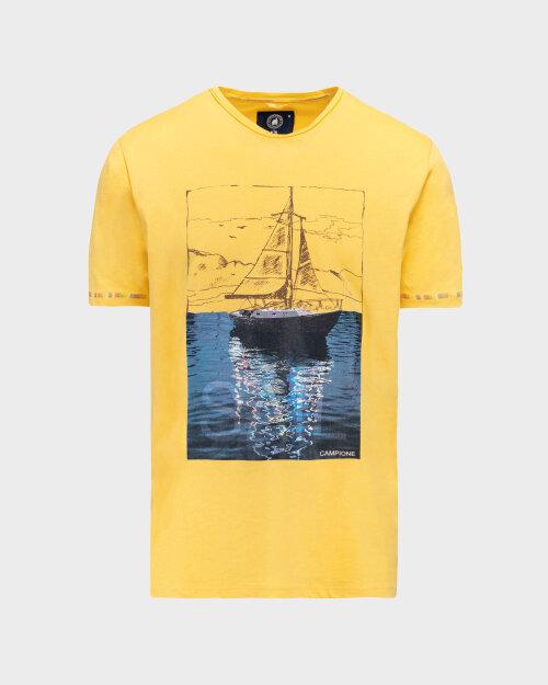 T-Shirt Campione 1098242_111130_20800 żółty
