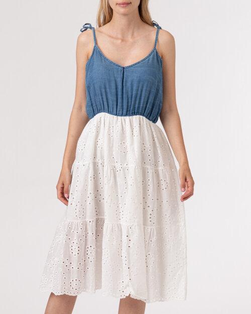 Sukienka Le Journal Coco 11DSU1058J_JEANS biały