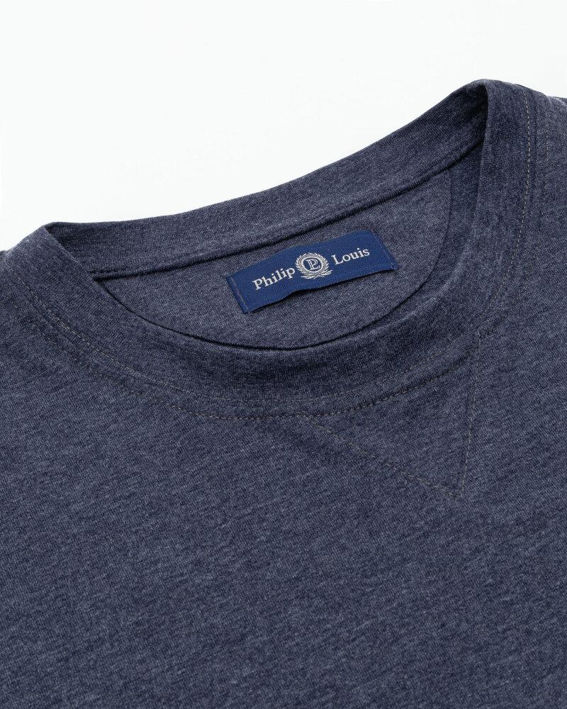 T-Shirt Philip Louis NOS_M-TSH-0038 NOS_INDYGO niebieski - fot:2