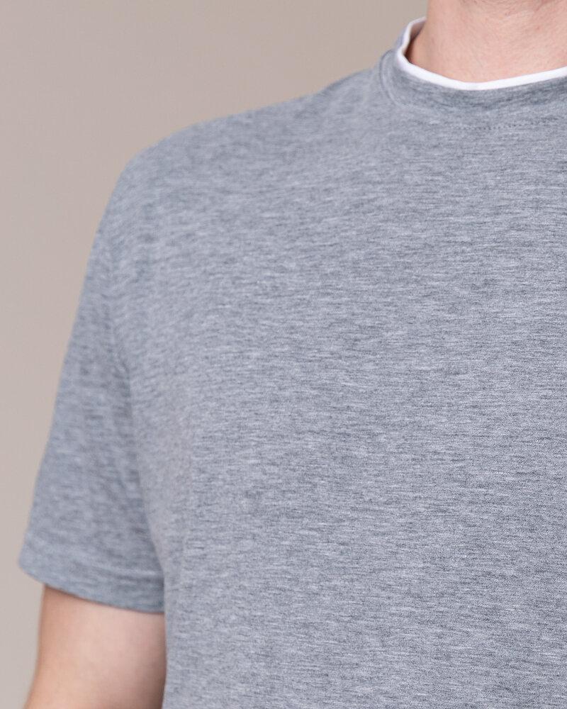 T-Shirt Philip Louis NOS_M-TSH-0033 NOS_GREY zielony - fot:3