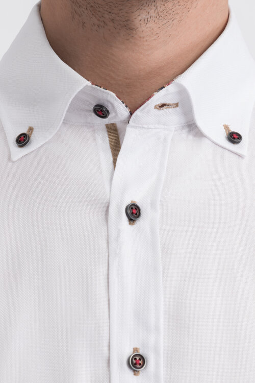 Koszula Bugatti 48510_0 9351_010 biały