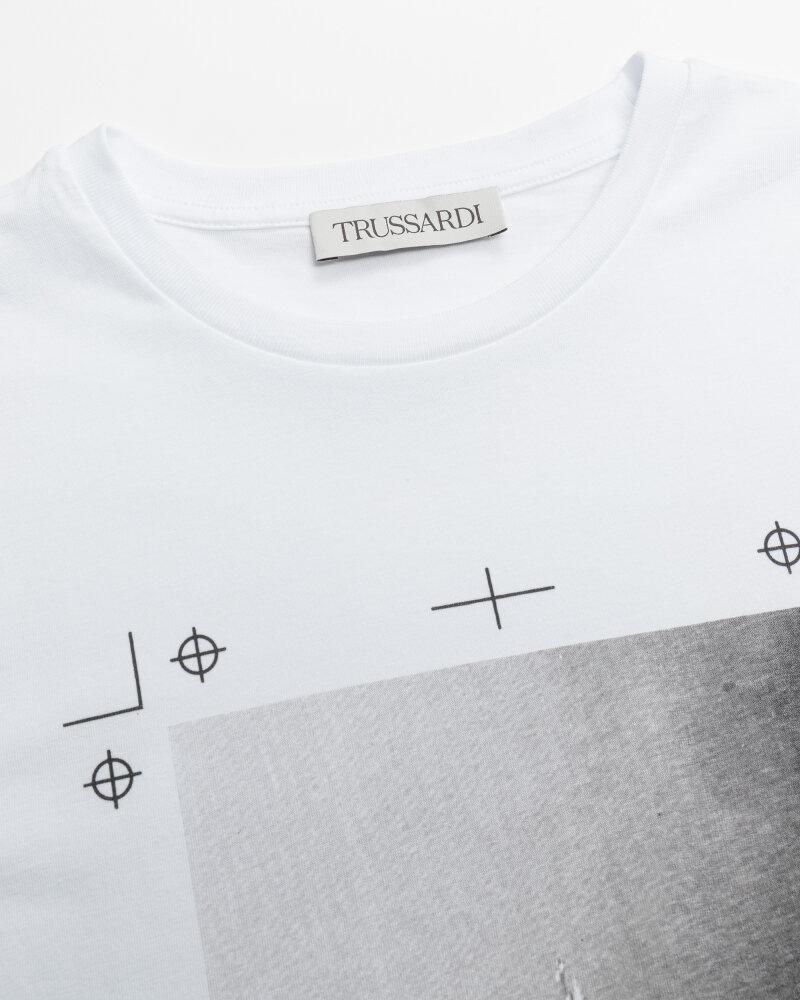T-Shirt Trussardi  52T00533_1T005328_E150 biały - fot:2
