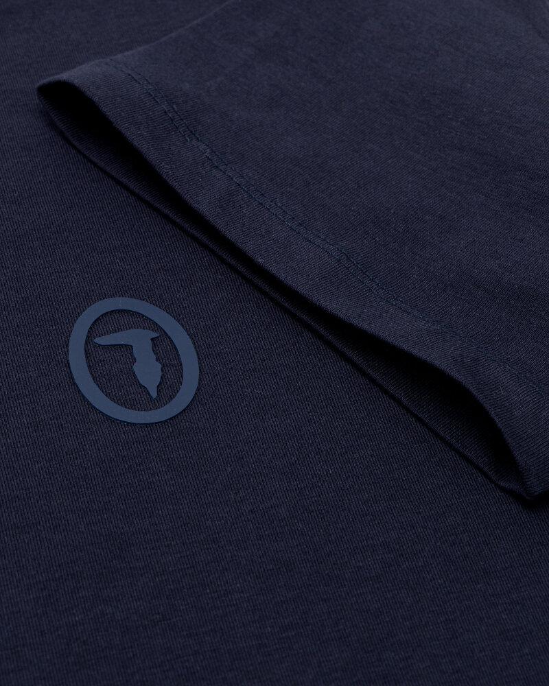 T-Shirt Trussardi  52T00535_1T003077_U290 granatowy - fot:3