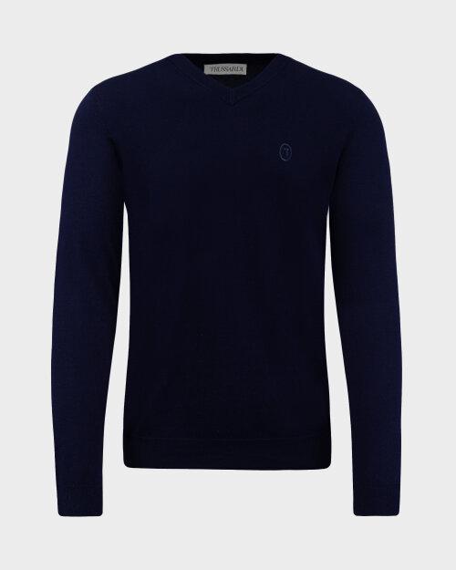 Sweter Trussardi  52M00518_0F000542_U290 granatowy