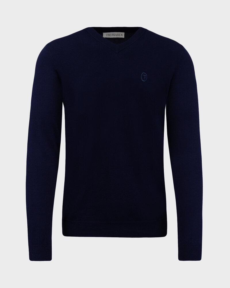 Sweter Trussardi  52M00518_0F000542_U290 granatowy - fot:1