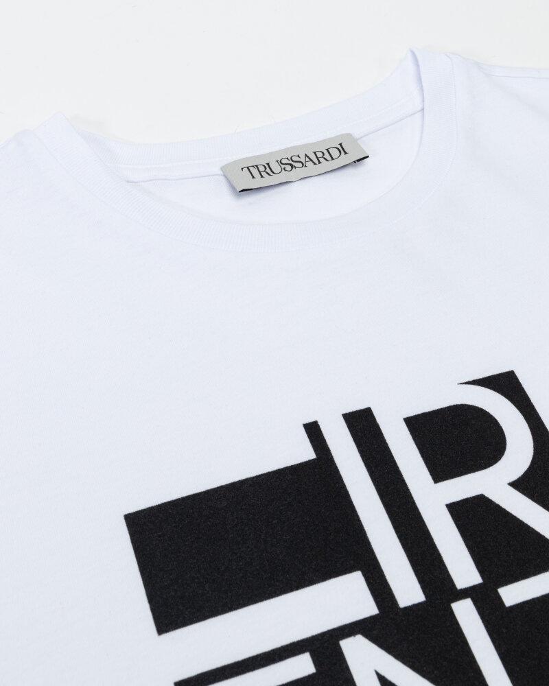 T-Shirt Trussardi  52T00533_1T005328_K299 biały - fot:2