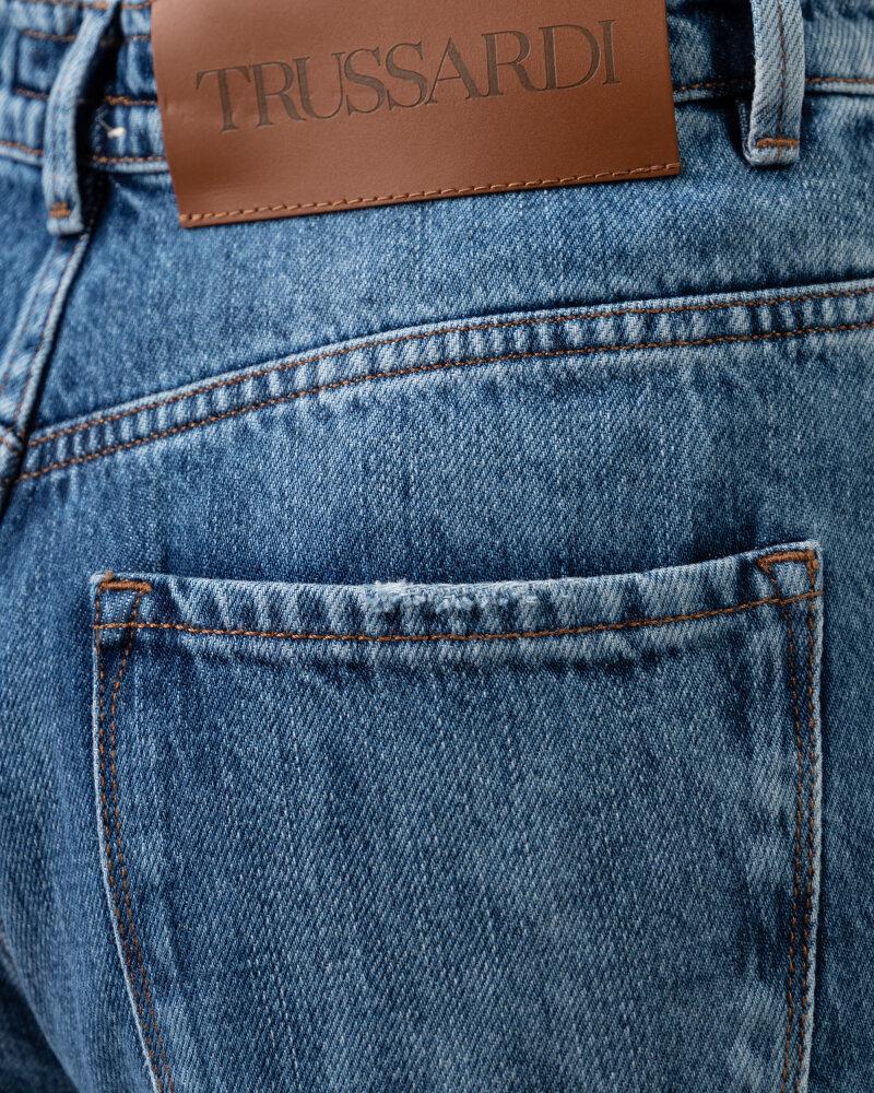 Spodnie Trussardi  56J00105_1T005403_U601 niebieski - fot:4
