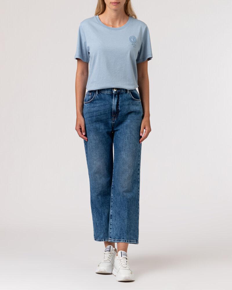 Spodnie Trussardi  56J00105_1T005403_U601 niebieski - fot:6