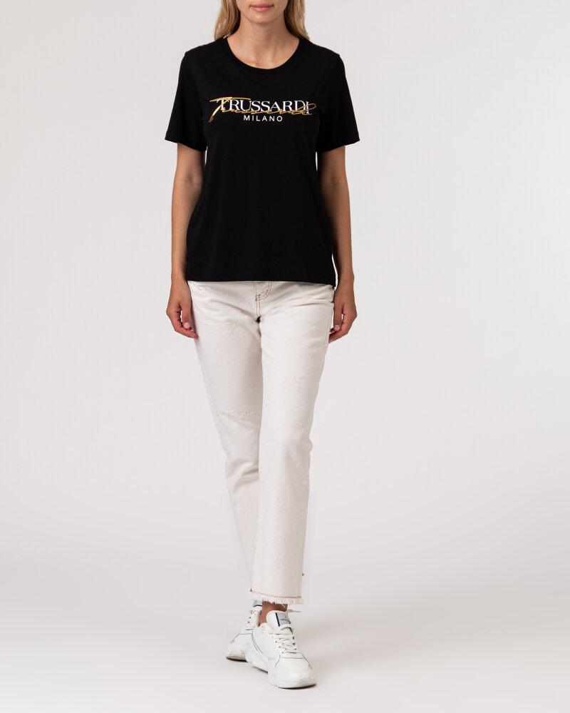 T-Shirt Trussardi  56T00420_1T003062_K299 czarny - fot:5