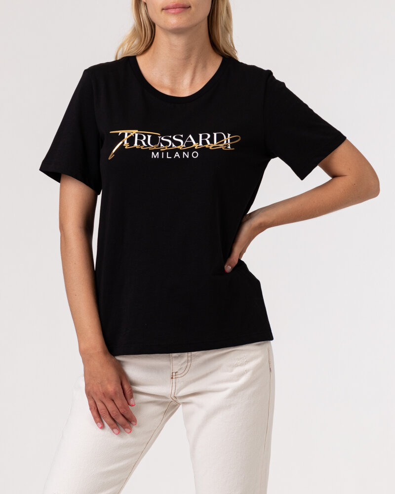 T-Shirt Trussardi  56T00420_1T003062_K299 czarny - fot:2