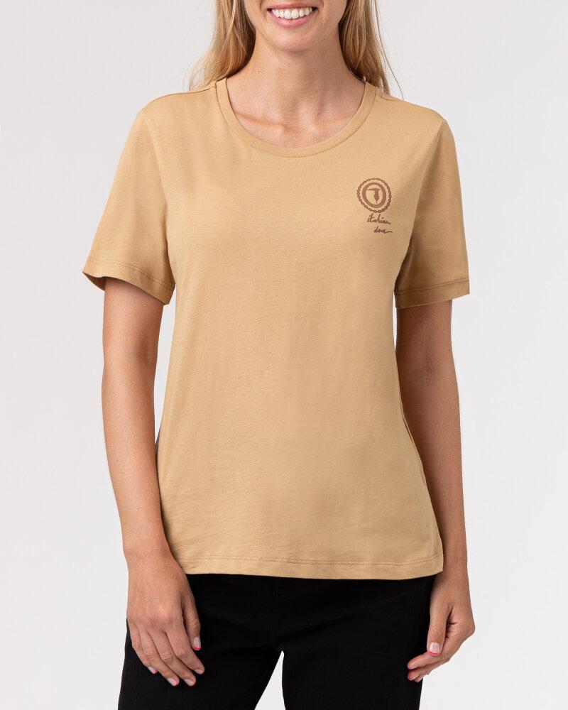 T-Shirt Trussardi  56T00409_1T005459_W105 camelowy - fot:2