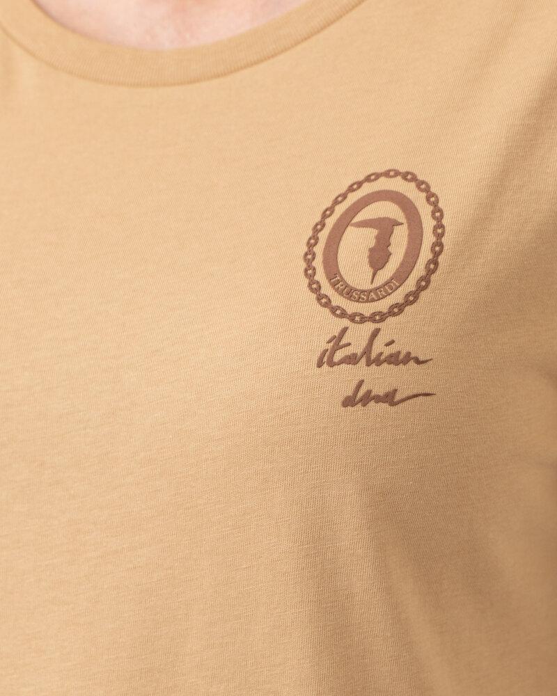 T-Shirt Trussardi  56T00409_1T005459_W105 camelowy - fot:3