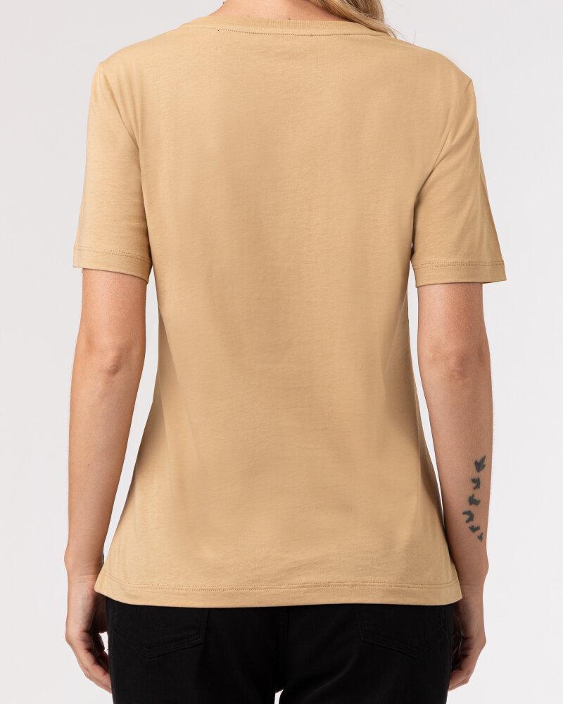 T-Shirt Trussardi  56T00409_1T005459_W105 camelowy - fot:4