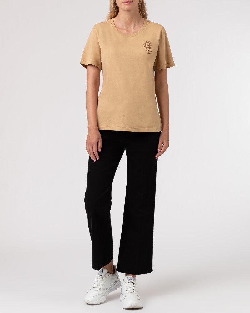 T-Shirt Trussardi  56T00409_1T005459_W105 camelowy - fot:5