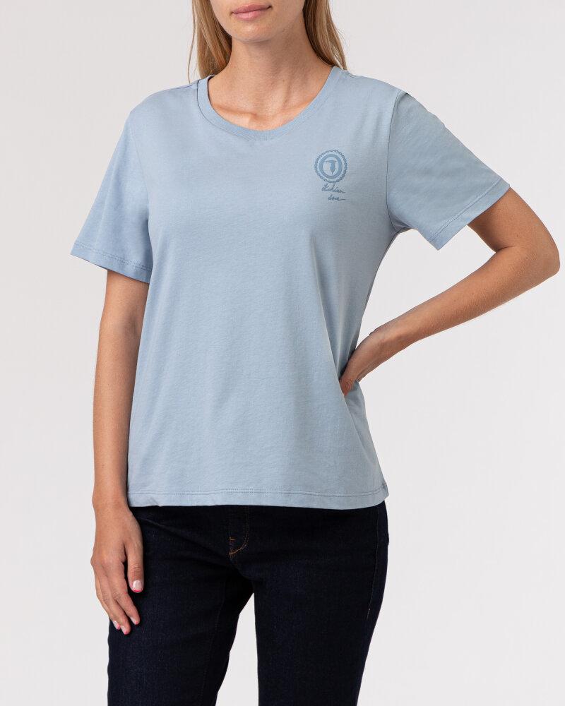 T-Shirt Trussardi  56T00409_1T005459_U020 błękitny - fot:2