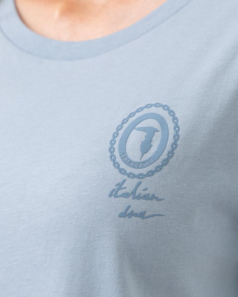 T-Shirt Trussardi  56T00409_1T005459_U020 błękitny - fot:3