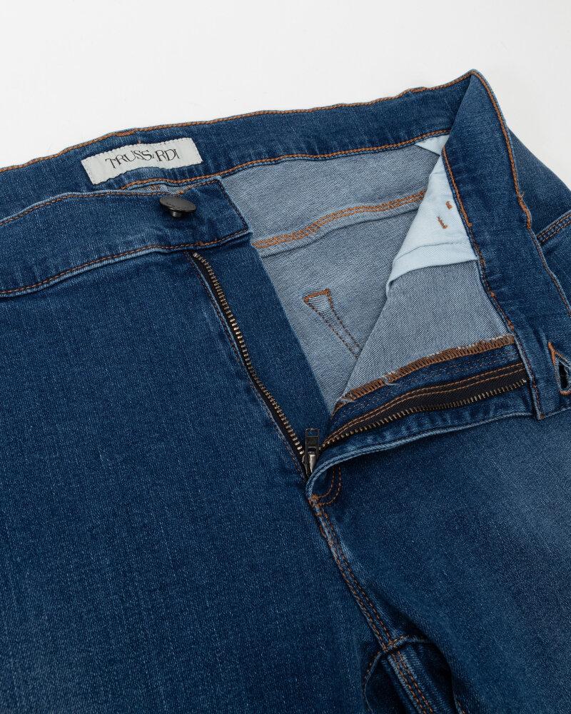 Spodnie Trussardi  52J00000_1Y000186_U260 niebieski - fot:2