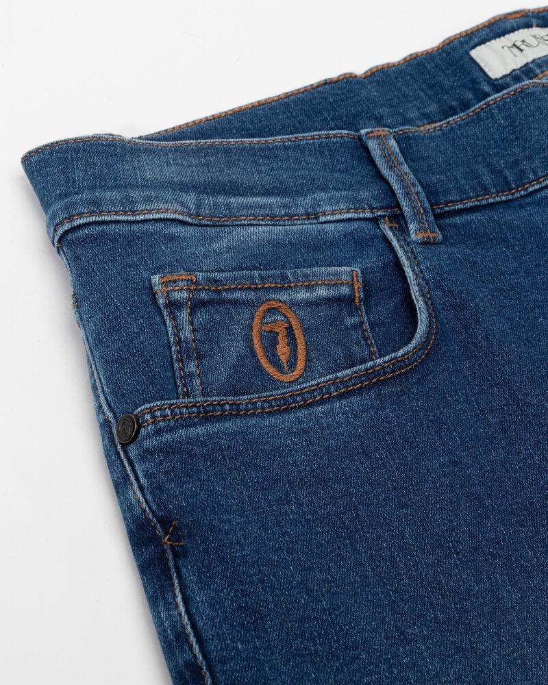 Spodnie Trussardi  52J00000_1Y000186_U260 niebieski - fot:3